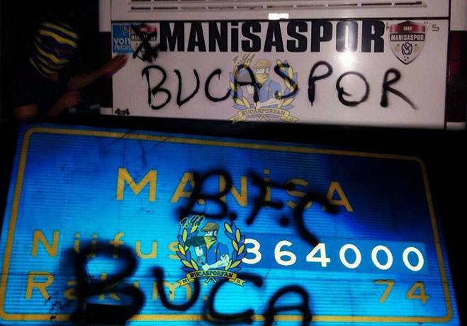Bucaspor'lu Holiganlar Manisaspor Tesislerini Bastı
