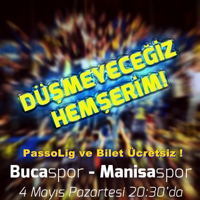 Manisa Maçında Passolig ve Bilet Ücretsiz ! - Bucaspor